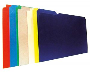 carpeta de carton sencilla coloes